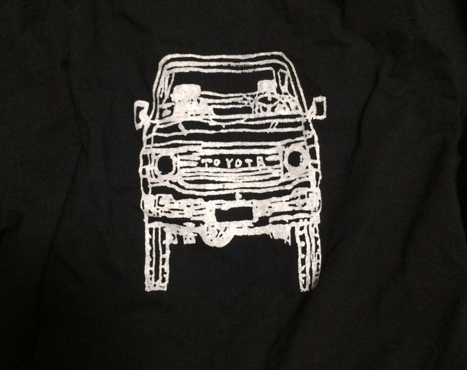 Long sleeve adult FJ60 Series Land Cruiser LandCruiser black Tshirt