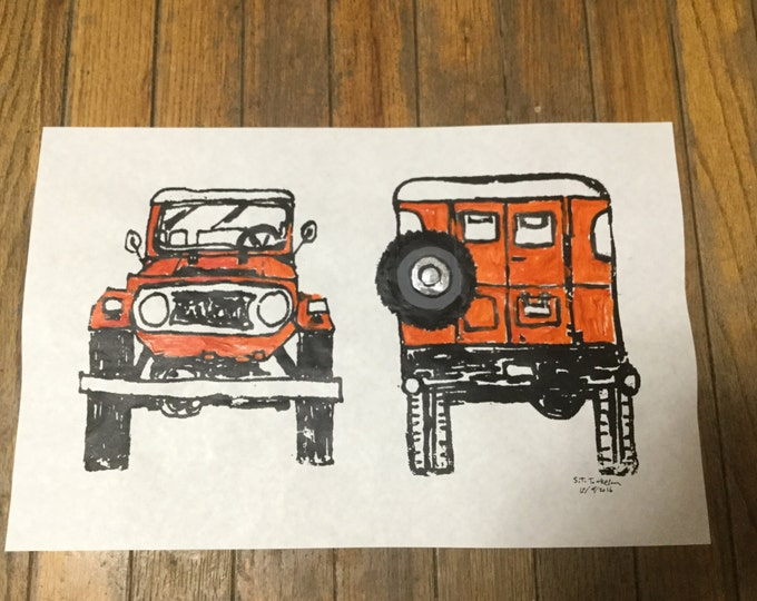 FJ40 series Land Cruiser LandCruiser Screenprint on paper
