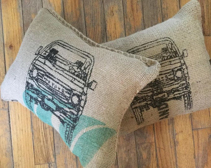 Coffee Bag Burlap  FJ60 Land Cruiser Land cruiser Pillow