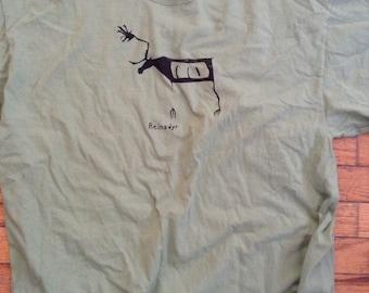 Norwegian Reindeer reindeer shirt Green Norge norsk