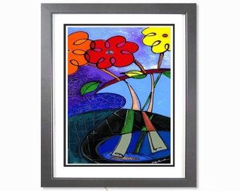 My Flower - Botanical Art Print, Flower Art Print, Home Decor Art, Floral Wall Art, Abstract Art, Floral Art Painting
