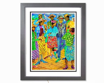 High Heels and Britches - Black Art Watercolor, Juke Joint, African American Art, Watercolor Print, Home Decor Art, African Art.