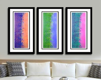 Abstract Wall Art Print Set, Landscape Paintings, Colorful Contemporary Art, Home Decor Art, Abstract Paintings, Office Wall Decor, Art Gift