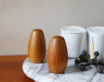 Teak Wood Salt and Pepper Shakers