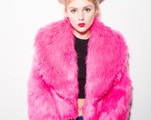 "Pink ""Eve"" Faux Fur Jacket"