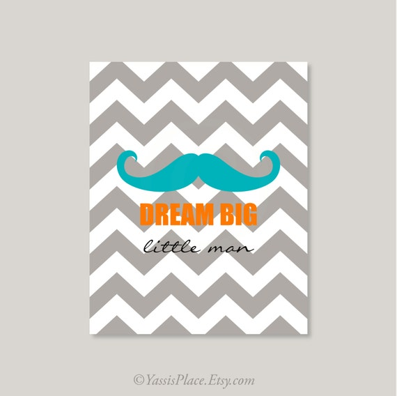 "Popular Items For Nursery Decor On Etsy Baby Shower: Items Similar To Baby Boy Nursery Art Print ""Dream Big"