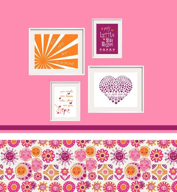 My Baby Girl S Nursery: Items Similar To Baby Girl Nursery Art Purple Orange