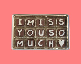 long distance relationship boyfriend gift men women friendship bff gift i miss you so much cubic chocolate letters romantic valentines day