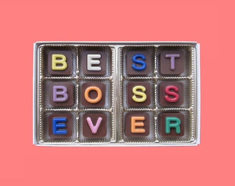 Appreciation Gift For Boss Thank You Female Male Idea Best Ever Birthday Man Woman Jelly Bean Cube