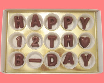 12th Birthday Gift Idea Born In 2006 For Teenagers 12 Year Old Boy Teen Girl Happy B Day Milk Chocolate Message