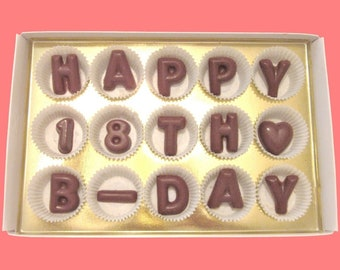 18th Birthday Gift For Best Friend Him Her Born In 2000 Man Woman 18 Year Old Boy Girl Happy B Day Idea Chocolate Message