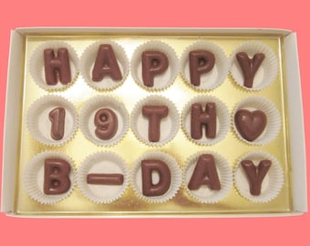 19th Birthday Gift Teens Boy Girl 19 Year Old Man For Her Him Born In 1999 Idea Happy BDay Large Milk Chocolate Letters