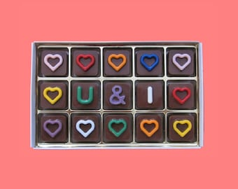 i love you chocolate gift for girlfriend 2 1 year anniversary gift you and i forever gift for boyfriend valentines gift husband wife gift