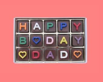 Dad Birthday Gift For Father In Law 50th 60th 70th Present Idea Rainbow Happy B Day Jelly Bean Chocolate Cube