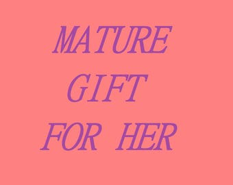 Adult valentines gift for wift