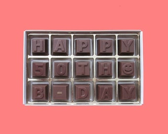 50th Birthday Gift For Men Woman Born In 1968 50 Her Him Best Friend Idea Dad Happy B Day Chocolate Message