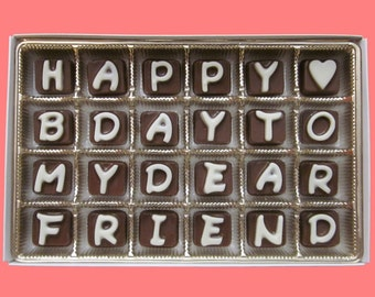 Best Friend Gift For Him Her BFF Birthday Man Women Guy Idea Funny Luxury Happy B Day To My Dear Cubic Chocolate Letters