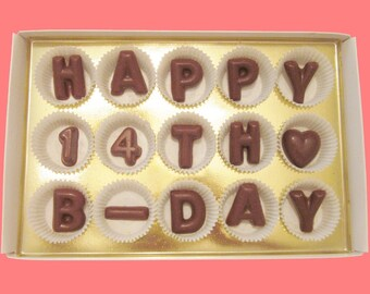 14th Birthday Gift Born In 2005 14 Year Old Boy Girl Idea Teenagers Teen Happy B Day Milk Chocolate Letters
