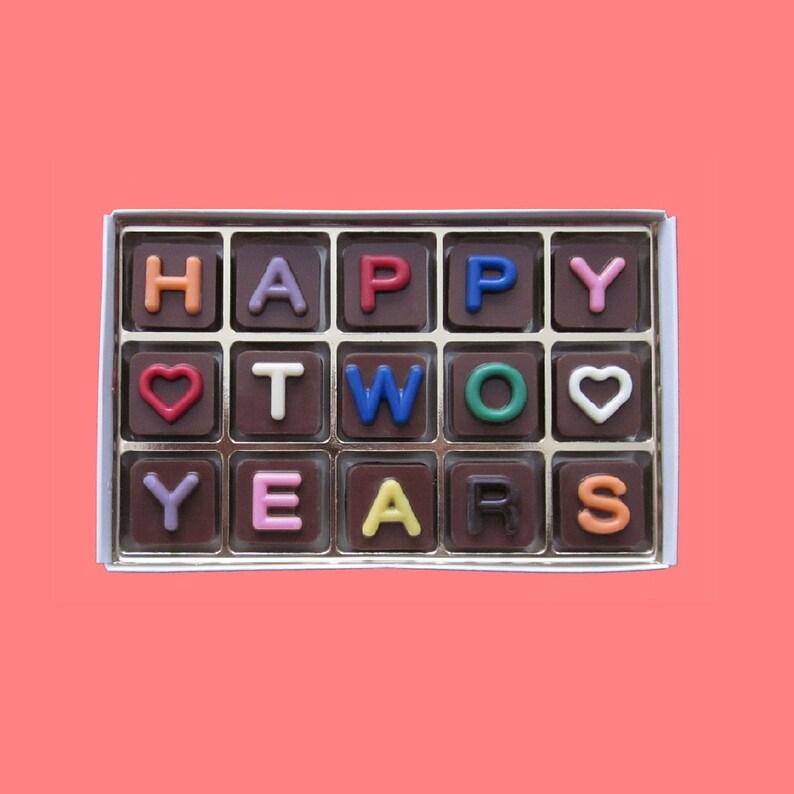 Happy Two 2 Years Anniversary Gift For Girlfriend Boyfriend Etsy