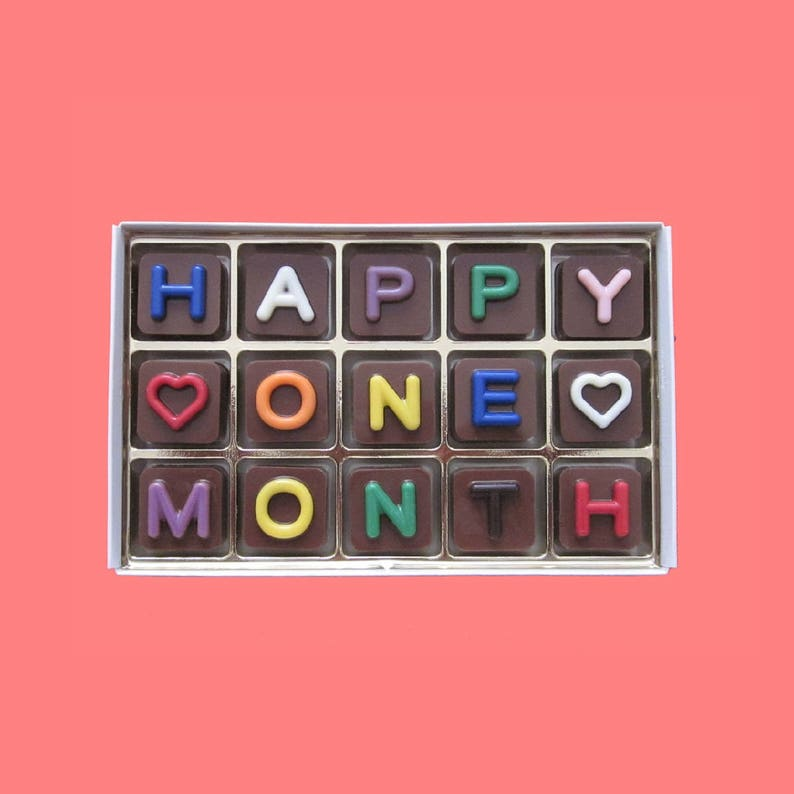 First Month Anniversary Gifts For Men Happy One 1 Month Etsy