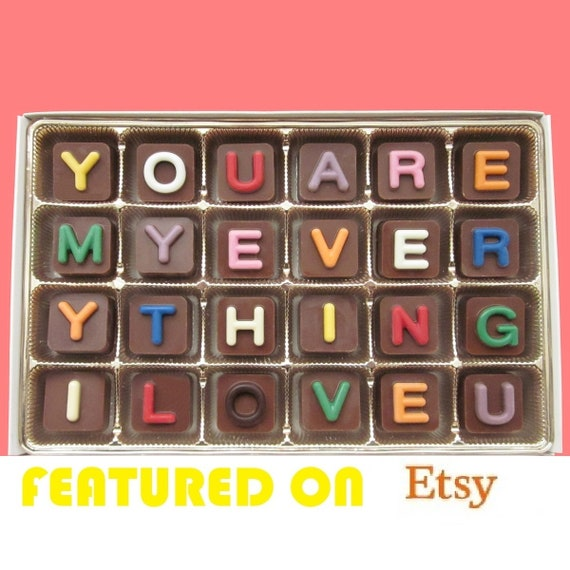 I Love You Chocolate Candy Valentines Day Gift For Wife Gift Etsy