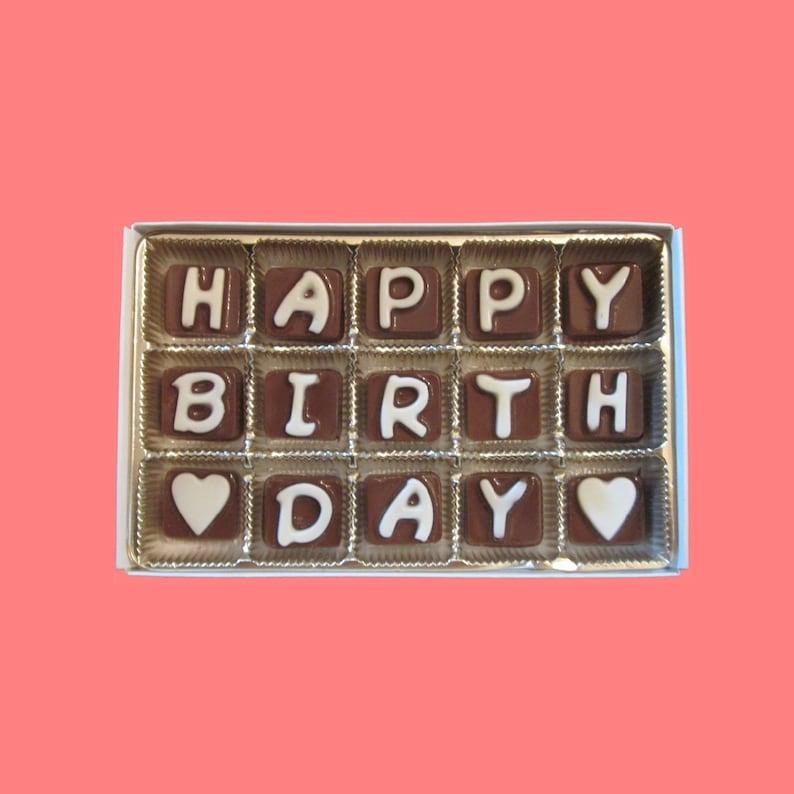 Birthday Gift For Him Her Best Friend Boss Girlfriend Boyfriend Happy Cubic Chocolate Letters Long Distance Cute Unique Kawaii