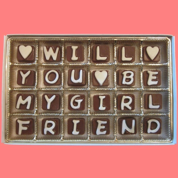 Will You Be My Girlfriend Chocolate Gift For Her Women How To Etsy
