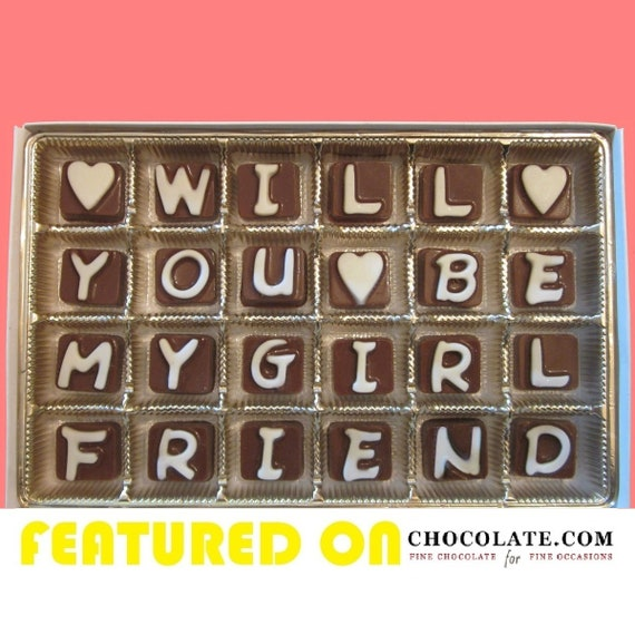 Will You Be My Girlfriend Gift Chocolate Be My Valentine Gift Etsy