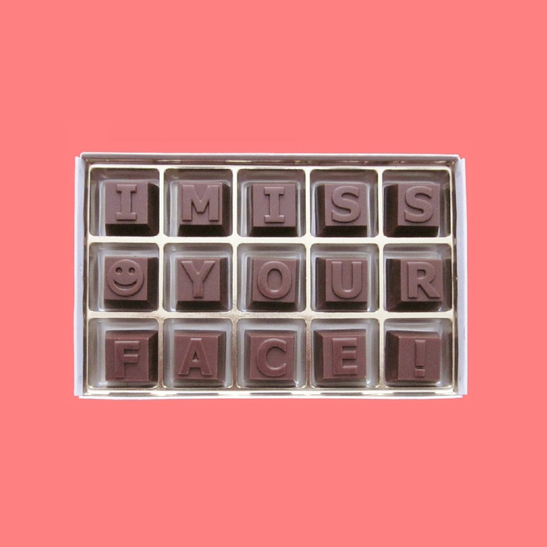 I Miss Your Face Chocolate Letters Long Distance Relationship Gift  Boyfriend Gift for Men Him Her Women Gift Best Friend Gift Birthday Gift