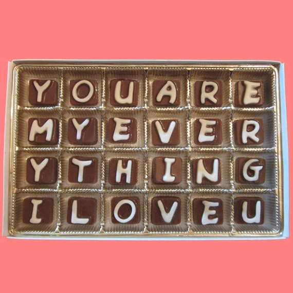 i love you chocolate 6 month anniversary gift husband gift etsy