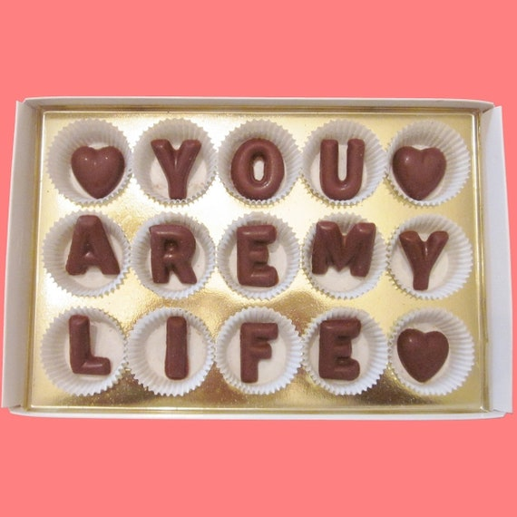 You Are My Life Chocolate Gift Girlfriend Gift 1 Year Etsy