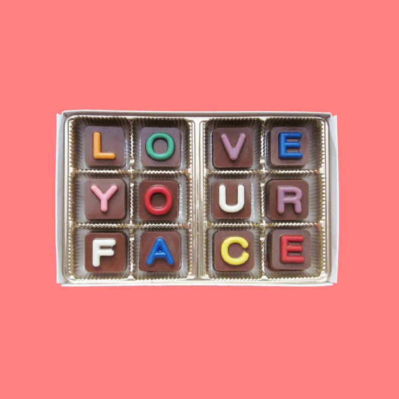 I Love Your Face Chocolate Gift Boyfriend 6 Six Months