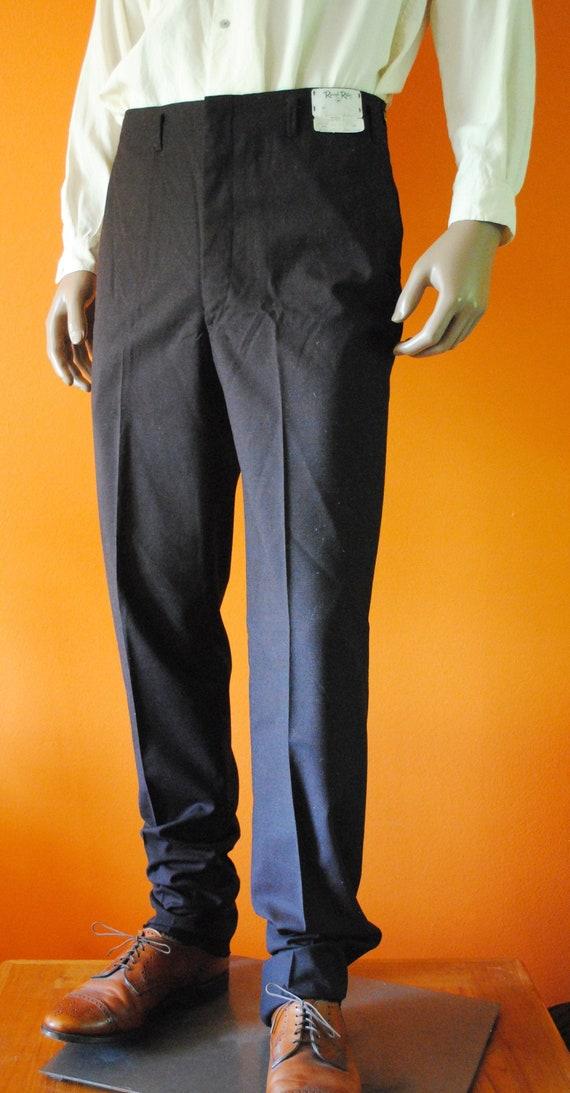 1950s Mens Wool Slacks, sz 32