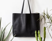 Large Textured Black Leather Tote bag No. Ltb-1509