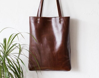 7cd606c377bd Luxury Brown Leather Tote bag No.Tl- 17002