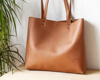 Large Tan Leather Tote bag No. Ltb-1709