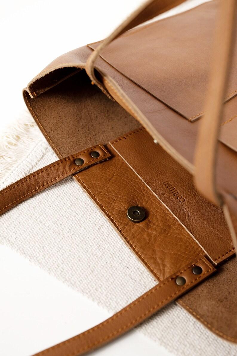 Medium Cognac Leather Tote bag No LPB-32001