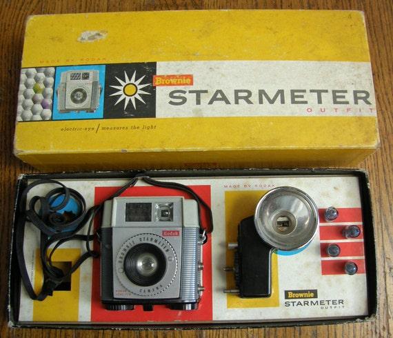 Kodak Brownie Starmeter Camera With Box Flash Instructions Etsy