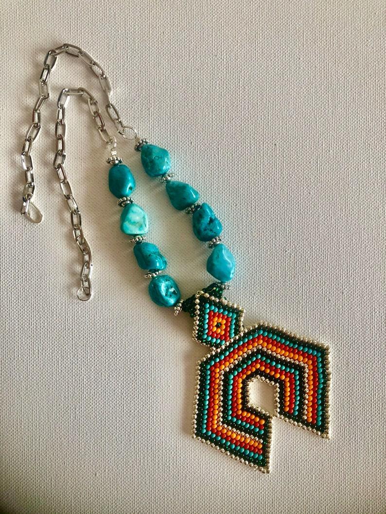Naja Jewelry Naja  Necklace Western Necklace Gemstone Necklace Tribal Necklace Beaded Necklace Boho Necklace,