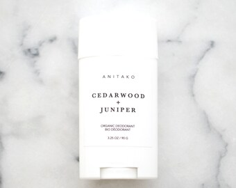CEDARWOOD + JUNIPER - Organic Deodorant, Natural Deodorant, Deodorizing Essential Oil Blend, Extra Strength, Aluminum Free