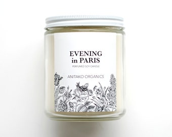 EVENING in PARIS - Perfumed Soy Candle, Vegan, Natural Home Fragrance