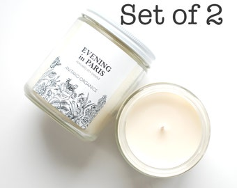 Set of 2 Perfumed Soy Candles - Scented Container Candle, Natural Home Fragrance, Mix and Match, You Choose the Scent