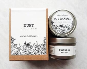 DUET Candle Sampler Set - 2 x Travel Tin Candle (4oz), Mix & Match, You Choose the Scent