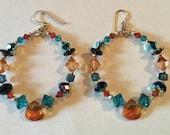 Swarovski Crystal Hoop Pierced Earrings Sedona