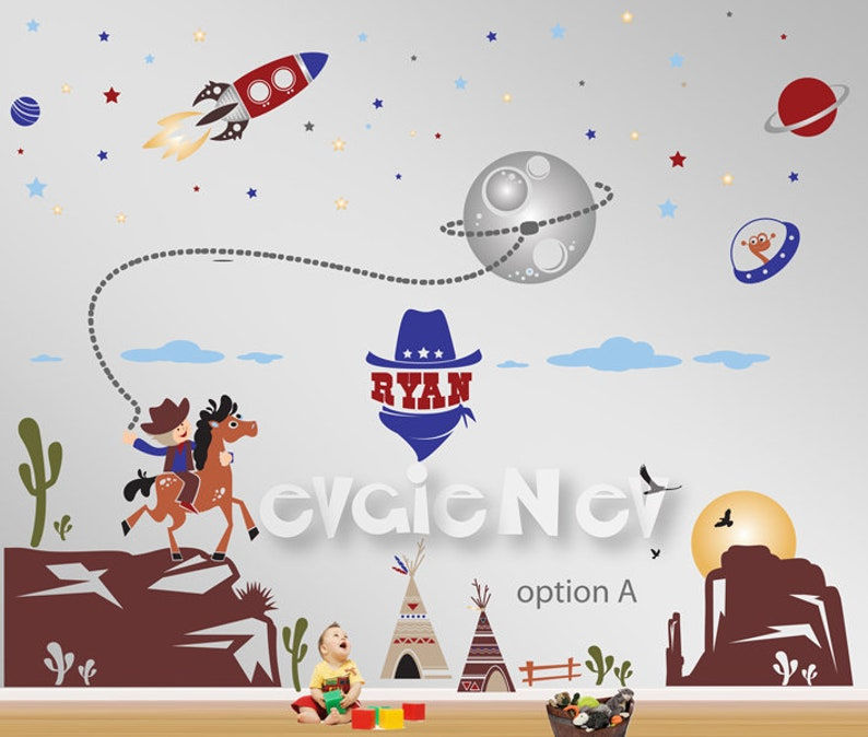 Space Cowboys and Rangers  Cowboys and Aliens Wall Stickers  image 0