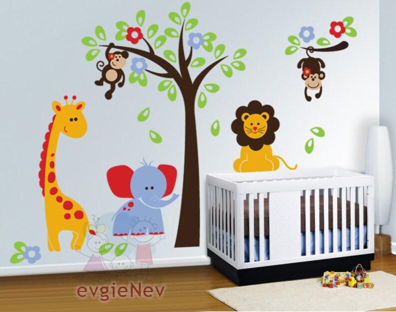 nursery wall decals baby wall decal safari wall decal | etsy