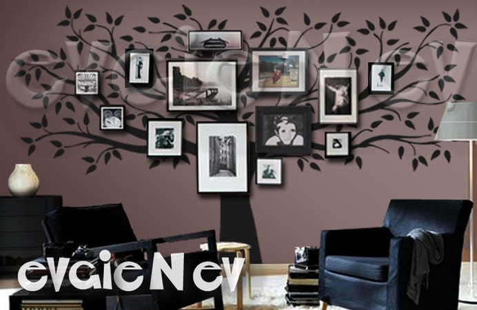 Family Tree Wall Decal Picture Frame Wall Decals Wall Etsy
