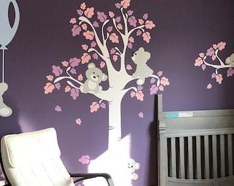Nursery Wall Decals - Teddy Bears Wall Decals - Baby Nursery Wall Stickers -  PLTBRS030