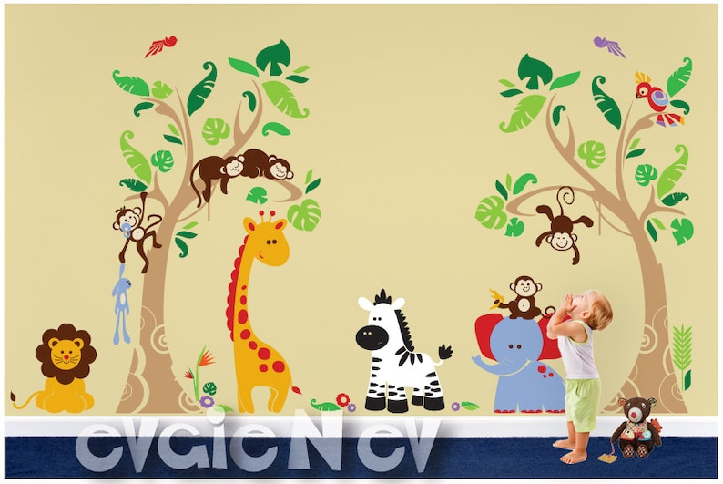 Jungle Wall Decals  Safari Wall Stickers  Wall Decals Kid  image 0