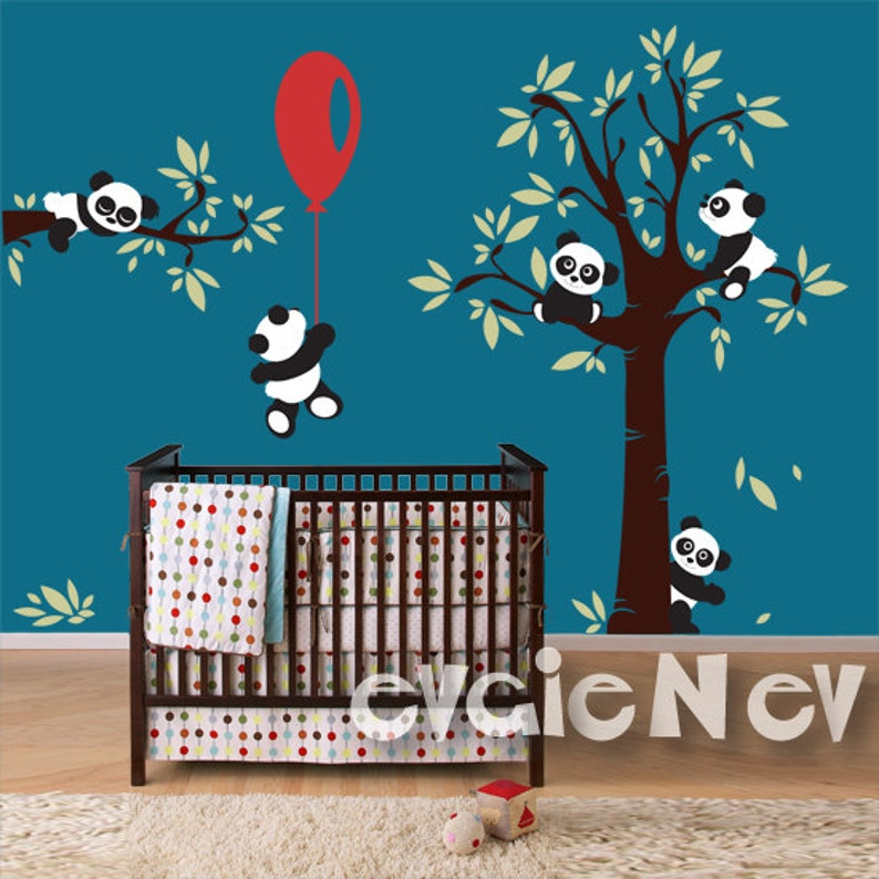 Panda Wall Decals  Nursery Wall Decals for kids room with image 0